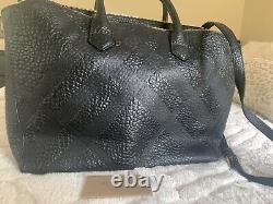 $1495 Burberry Calf Grain Leather Dewsbury Large Tote Handbag Black 100% Authen
