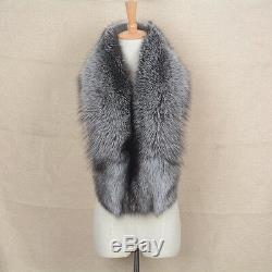 2019 Large Real Fur Scarf Women Winter Fashion Shawl Magnetic Big Collar 31641