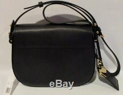 $395 New MARC JACOBS Rider LEATHER Crossbody Large Womens BLACK Handbag