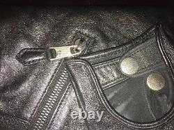ALEXANDER MCQUEEN Legendary& Iconic Black Leather Clutch Bag with Glove! MUSTHAVE