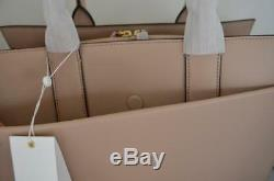 AUTH $598 Tory Burch Kira Collection Perfect Sand Leather Large Tote Shoulder