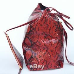 Alexander McQueen New Auth Skull Satchel Tote Handbag Bag snakeskin print $1395