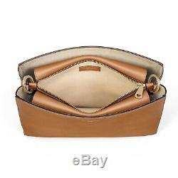 Aspinal of London Large Ella Hobo Bag in Tan Smooth and Tan Suede MINT