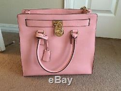 Authentic Michael Kors Large Hamilton Saffiano Leather Bag in Pink