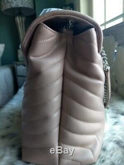 Authentic Saint Laurent Large Rose Loulou Mattelasse Leather Bag Purse NWT