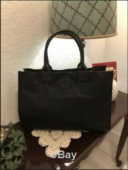 BRAND NEW TORY BURCH Ella Large Tote Nylon Handbag 55528 Black