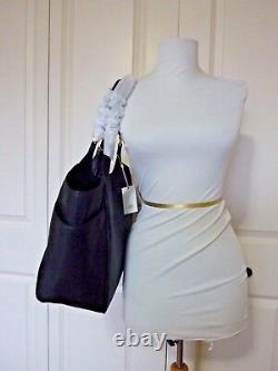 BRAND NEW Tory Burch Black Leather Thea Round Tote