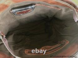 Bed Stu Amelie Black Teak Rustic Leather Tote Purse A694503 BLKTK