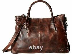 Bed Stu Rockaway Teak Rustic Leather Satchel Handbag Purse B1010