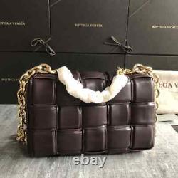 Bottega Veneta Cassette Style Shoulder Foam Padded Ecological Leather Chain Bag