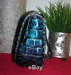 Brahmin Sandrine Melbourne Turquoise Leather Clutch Handbag Purse Wristlet nwt