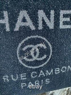 CHANEL 19A Grey Deauville Tote Bag Gris GST Grand Large Shopping Bag NEW Ltd Ed