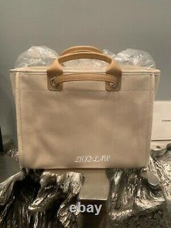 CHANEL 20S Beige Deauville Tote Bag Pearl 30 Large Shopping Handles Chain NEW