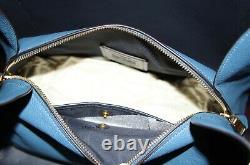 COACH 73549 Hadley Hobo Leather Shoulder Bag Tote Purse Handbag Lake Blue