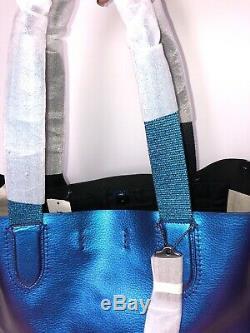COACH Derby Large Tote Shoulder Bag In Metallic HOLOGRAM Leather F59388