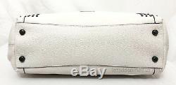 COACH EDIE 31 Bandana Rivets Hobo Studded Purse Chalk White Black 55544 RARE NWT
