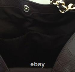 COACH F25944 Lexy Exotic Leather With Chain Strap Handbag IM/Oxblood/Multi NWOT