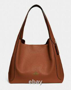 COACH Leather hadley hobo Shoulder bag Tote NWT 73549 Saddle