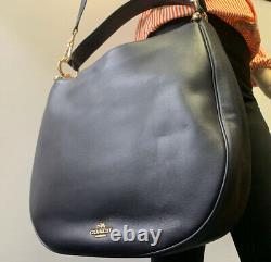 COACH NWOT Light Navy Leather Hobo Ladies Handbag (36026LINAV) Free Shipping