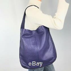 COACH NWT LRG Purple Pebble Leather Avery Shoulder Hobo NEW #23309