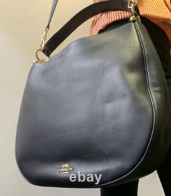COACH NWT Light Navy Leather Hobo Ladies Handbag (36026LINAV) Free Shipping