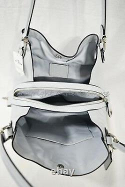 Coach 57125 Edie Shoulder Bag 31 In Refined Pebble Leather in Sky Blue/Silver