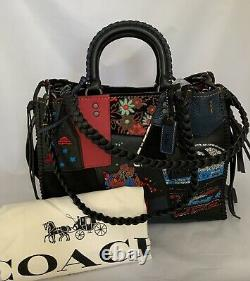 Coach 58159 1941 Rogue 30 Embellished Patchwork Whipstitch Satchel Bag $1200 Nwt