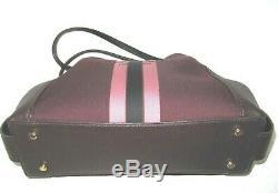 Coach 69815 Horse & Carriage Jacquard Edie 31 Shoulder Handbag Oxblood & Pink