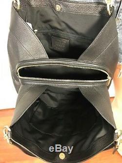 Coach Black Bag Shoulder Leather Authentic Lexy Signature Pebbled Purse + Wallet