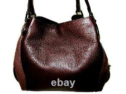 Coach Edie 42 20334 Large Shoulder Oxblood Mixed Leather Suede Handbag NWT $495
