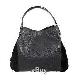Coach Edie Ladies Large Mixed Leather Shoulder Handbag 57647