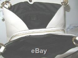 Coach F27579 Large Lexy Outline Signature Shoulder Light Khaki Chalk Handbag