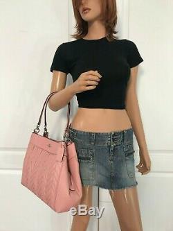 Coach F32978 Lexy Petal Pink Quilting Leather Shoulder Bag Purse Authentic $550