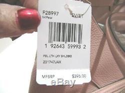 Coach Large Lexy Shoulder Bag Petal Pink Pebbled Leather F28997 Handbag NWT $395