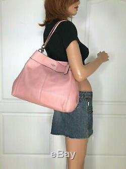 Coach Lexy Pink Signature Pebbled Leather Shoulder Bag Purse Authentic $395.00