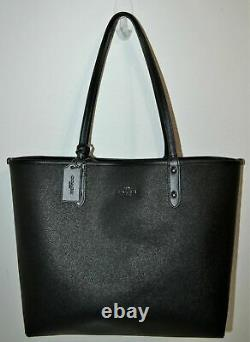 Coach Reversible to Black or Chalk Zebra City Tote Purse Bag 37874 NWT $350