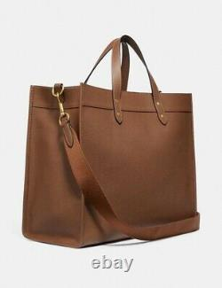 Coach Unisex Field Tote 40 With Coach Badge #777 Dark Saddle