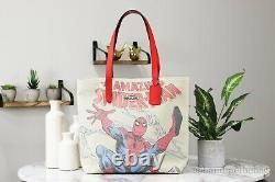 Coach X Marvel 2549 Spider-Man Signature Canvas Tote Handbag Satchel