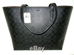 Coach X Star Wars Large Town Tote Handbag Black Smoke Signature F88019 NWT $428