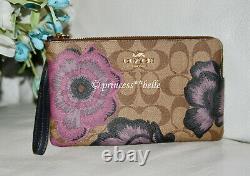 Coach x Kaffe Fassett City Tote Bag Floral Print & Wallet Wristlet Purse Set