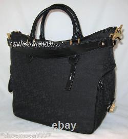 DKNY T&C Turnlock Logo Business Travel Bag Tote Purse Wallet Set New Authentic