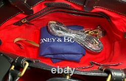 DOONEY & BOURKE Florentine Brenna Satchel Black Leather Red Lining