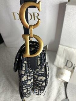 Dior Oblique Saddle Navy Taupe Handbag Bag Purse Like New RRP$5100AUD