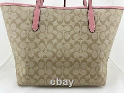 Disney X Coach Princess City Tote Signature Canvas with Patches C3724 NWT