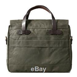 Filson 24-Hour Tin Cloth Briefcase (Otter Green)