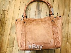Frye Melissa Shoulder Bag Tote Dusty Rose Distressed Leather Db146 Nwt $358.00