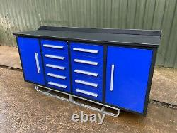 Garage Cabinet Workshop storage cupboard toolbox workbench. 7 FEET LONG