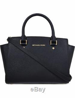 Genuine Michael Kors Selma Large Satchel price tag, care card, QR code dust bag