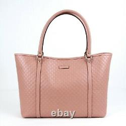 Gucci Pink GG Micro Guccissima Leather Large Joy Tote Bag 449647 5806