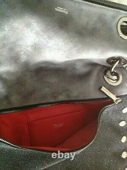 Hammitt Montana Reversible Midnight Black Gray Glitter Crossbody Bag $795